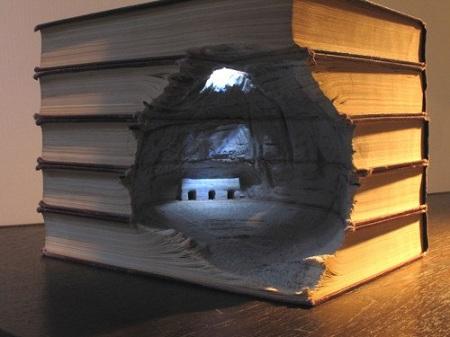 escultura libro