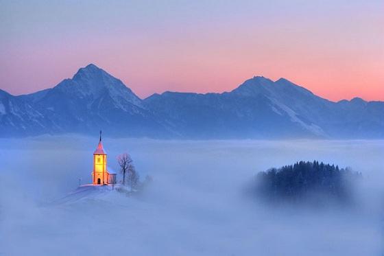 iglesia en el cielo