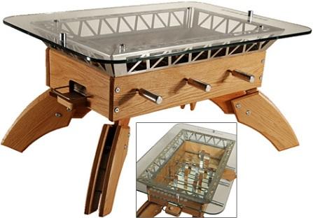 mesa con futbolin. Black Bedroom Furniture Sets. Home Design Ideas