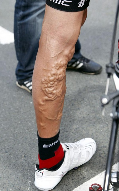 pierna ciclista