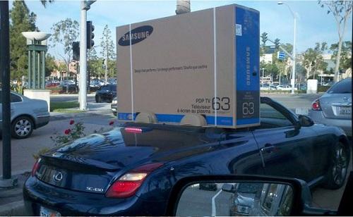 television coche